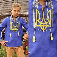 Вышиванка с гербом Украины детская для мальчика