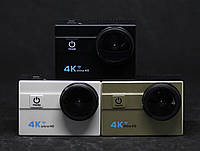 Экшен камера 4k+батарея в подарок! WiFi, бокс, экран 2 дюйма. 3 цвета