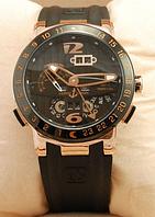 Часы мужские наручные ulysse nardin el toro gold/black 2347 aaa copy sk (реплика)