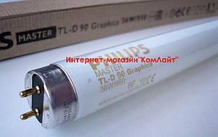 Лампа люминесцентная PHILIPS TL-D 90 Graphica 36/950 G13(Польша)