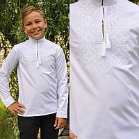 Вышиванка на хлопке для мальчика с длинным рукавом, фото 1