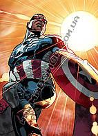 Картина 40х60см Капитан Америка солнечный