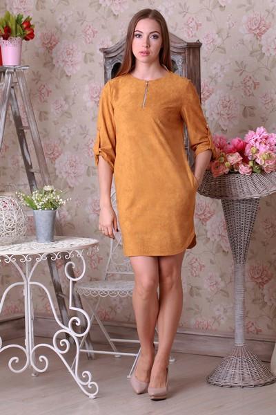 Стильное нарядное деловое платье туника прямого силуэта  - Exclusive в Хмельницком