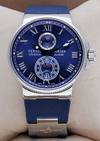 Часы мужские наручные Ulysse Nardin Maxi Marine ААА Blue/Silver 2351 AAA copy SK (реплика)