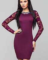 Платье с гипюровыми рукавами | Лия leo