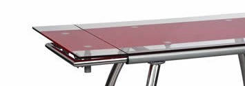"Стол обеденный раскладной B-179-3 каркас хром, база стола-цвет ""алюм"", фото 3"