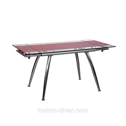 "Стол обеденный раскладной B-179-3 каркас хром, база стола-цвет ""алюм"", фото 2"