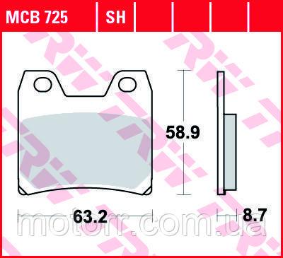 Тормозные колодки TRW / LUCAS MCB725SH