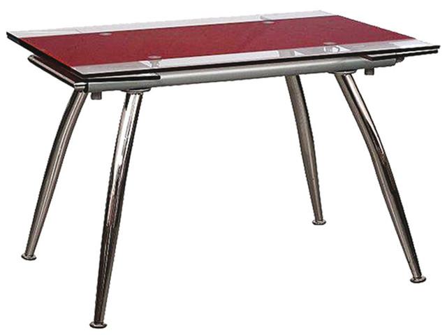 Стол обеденный раскладной B-179-3 каркас хром, база стола-цвет