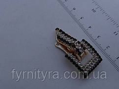 Кліпса шубна (шубний гачок) 024 gold-black-white