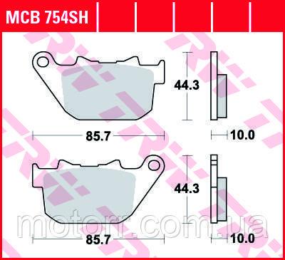 Тормозные колодки TRW / LUCAS MCB754SH