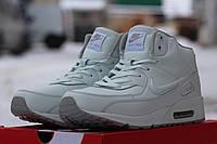 Зимние мужские кроссовки Nike Air Max белые /  кроссовки  мужские  Найк Аир Макс  зима, удобные и теплые