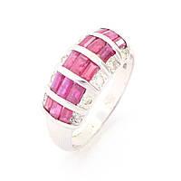 Золотое кольцо с бриллиантом, рубином