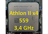 Процессоры  (б/у) AMD Athlon  II X4 559 (Phenom II X4 965), 3,4ГГц, L3 6Mb   955 945