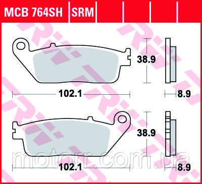 Тормозные колодки TRW / LUCAS MCB764SH