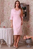 Модное нарядное трикотажное приталенное платье увеличеных размеров