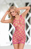 Сексуальное платье - сетка Kitty (цвет розовый, чёрный)