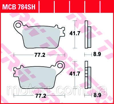 Тормозные колодки TRW / LUCAS MCB784SH