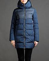 Куртка удлиненная snowimage  g328 лазурный черный