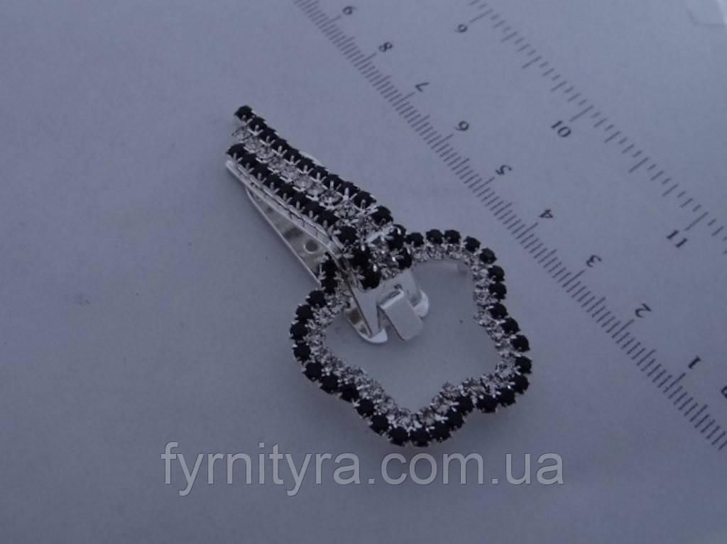 Клипса шубная (шубный крючек) 026 silver
