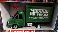 Машинка фургон МЕБЕЛЬ НА ЗАКАЗ грузов открыв двери звук, свет