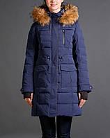 Пуховик snowimage g518 синий коричневый