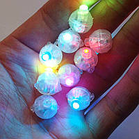 Светодиод для шаров SoFun круглый разноцветный цена за 1 шт
