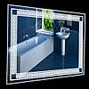 Настенное зеркало 60х80 см, led подсветка