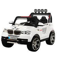 Детский электромобиль BMW M 3118 EBR-1: 2 места, 4x4, EVA, 2.4G, 8 км/ч - Белый-купить оптом