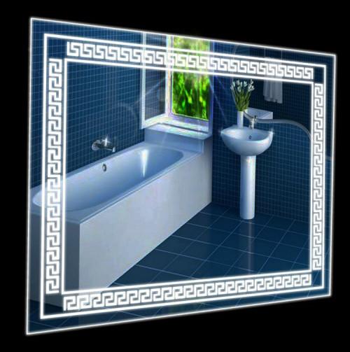 Настенное зеркало 80х60 с подсветкой