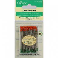 Булавки для квилтинга 0,60х48 мм (100 шт) Quilting Pins, Clover