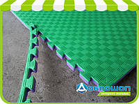 Мат-татами ласточкин хвост (EVA 20мм, размер 1х1м, Турция) фиолетово-зеленый, фото 1