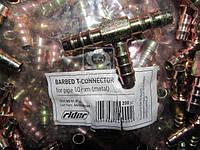 Тройник 8мм зубчатый для трубки (металл) (RIDER) RD 01.01.61