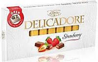 Шоколад молочный DELIKADOR Strawberry ( с клубникой) Baron Польша 200г