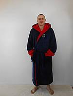 Мужской тёплый махровый халат, код:006