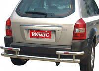 Защита заднего бампера (труба с углами) для Hyundai Tucson 2005-
