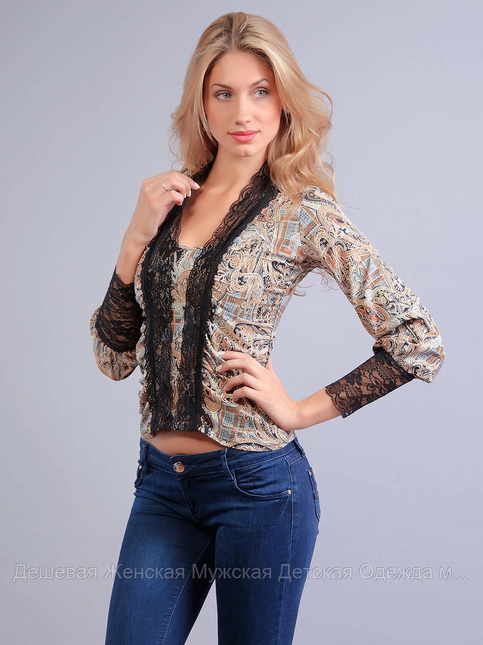 Блузка женская легкая гипюр