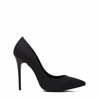 Туфли на шпильке женские, черные матовые 35-40