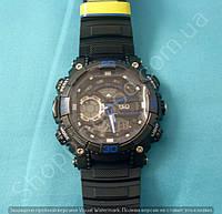 Спортивные часы Q&Q GW87J003Y мужские кварцевые черные для плаванья водонепроницаемые WR 100 с подсветкой