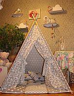 """Детский игровой домик, вигвам, палатка, шатер, шалаш """"Серый носорог"""""""