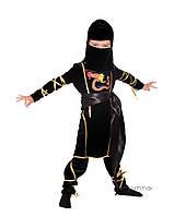 Детский костюм для мальчика Ниндзя дракон черный