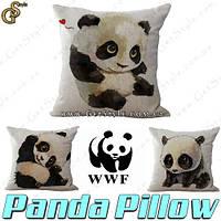 """Наволочки на подушки - """"Panda Pillow """" - 1 шт., фото 1"""