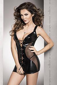 Мини-платье из латекса Donata black Passion L/XL, черный