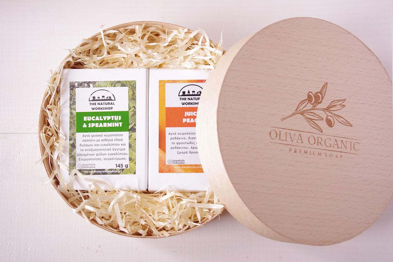Набор оливкового мыла с тростниковым сахаром Workshop №2. 2х145g. Греция
