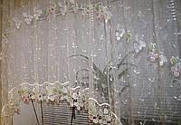 Тюль арка с вышивкой