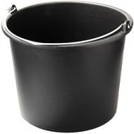 Ведро пластмассовое техническое черное 10л