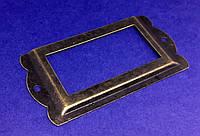 Рамка накладка для надписи бронза 84х42 мм