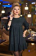 Платье расклешенное Амели черное