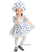 Детский костюм для девочки Снежинка с кокошником