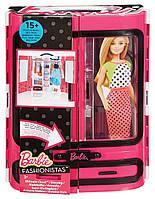Шкаф чемодан для одежды барби. Barbie Fashionistas , фото 1